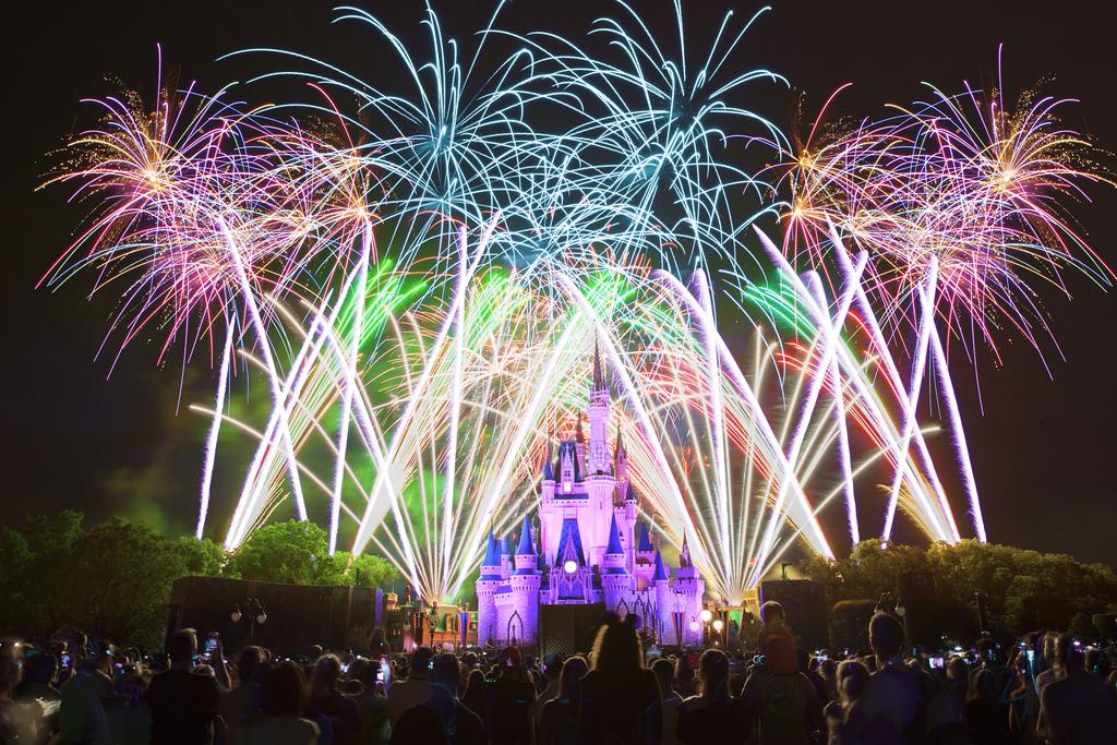 Fireworks at Cinderella Castle